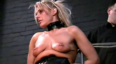 Tied, Blonde tied, Electro, Leather fetish, Leather bondage