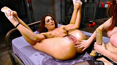 Squirting, Strapon, Monster dildo, Double fisting
