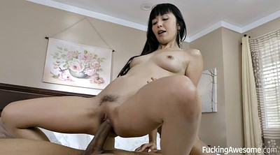 Skinny, Asian and black, Asian blowjob