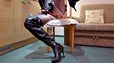 Boots, Leather, Latex masturbation