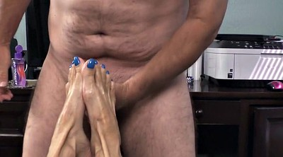 Beautiful feet, Mature footjob, Mature feet