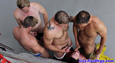 Muscular, Gay orgy