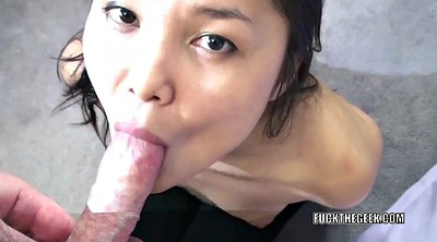 Asian, Big black cock, Blows, Asian blow