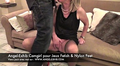 Nylon, French, Bottom, Nylon foot, Nylon feet