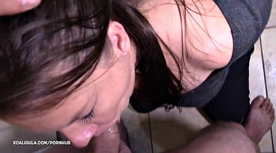 Throated, Gag, Handcuffed, Sloppy blowjob