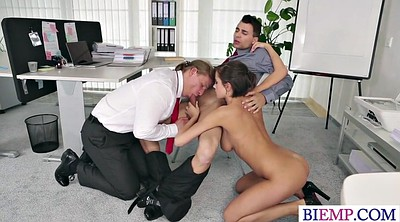 Boss, Amateur threesome, Bisexual amateur