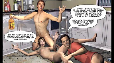Cartoon, Mmf, Gay cartoon, Double wife, Comics, Comic