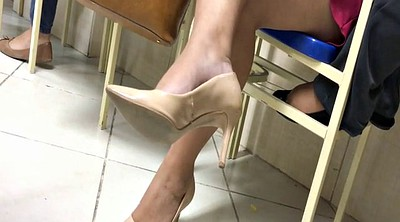 Milf feet, High heels, Candid, High