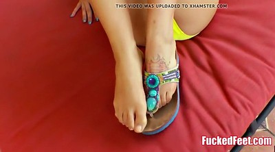 Amateur, Teen footjob