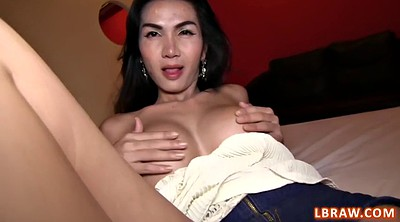 Asian pov, Shemale creampie
