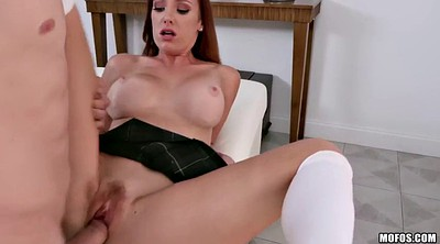 Redhead, Monster tits, Monster cocks