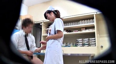 Nurse, Pantyhose handjob, Pantyhose blowjob, Hidden camera