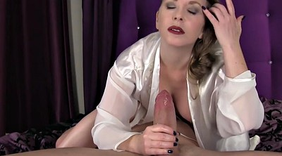 Mom, Satin, Silk, Mom handjob