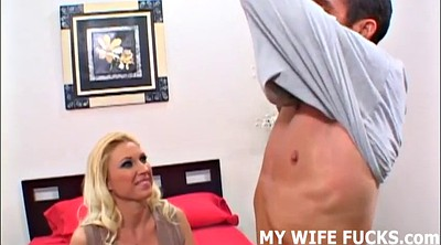 Male, Femdom cuckold, Wife watches