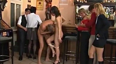 Bar, Public nudity, Mature handjob