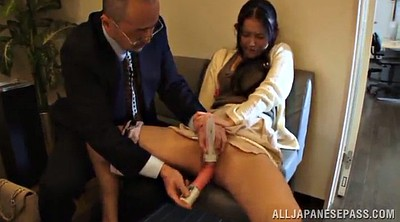 Naughty, Asian babe, Asian office