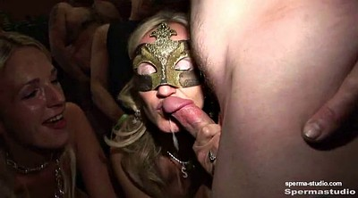 Bukkake, Cum in mouth