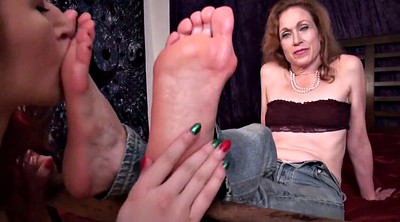 Aunt, Mature foot, Lesbian feet, Young old, Feet mature