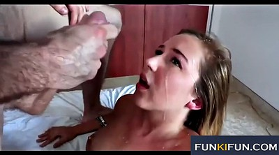 Facial, Deep throat, Amateur facial compilation, Extreme