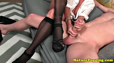 Stocking, Stock, Mature handjob