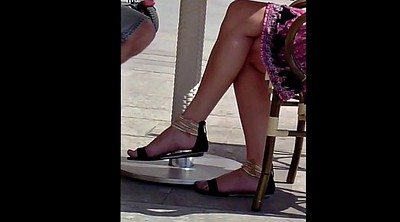 Footing, Candid, Legs, Sandals, Sexy legs, Candid feet
