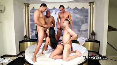 Beauty, Shemale gangbang