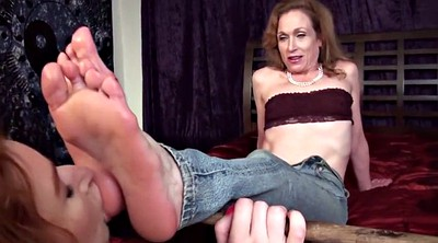Foot worship, Aunt, Feet lesbian, Mature feet, Feet femdom, Young foot