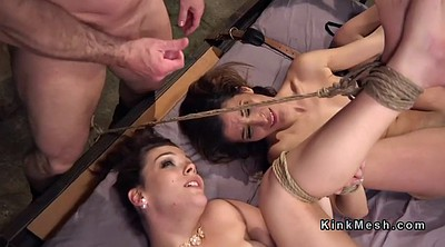 Female, Bdsm anal, Two slaves, Dungeon
