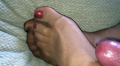 Nylon feet, Paint, Nylons feet, Nylon toes