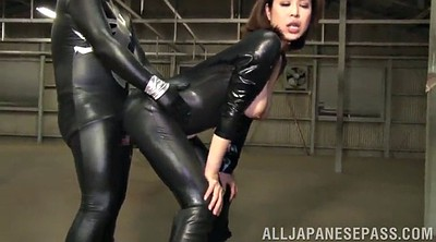 Leather, Asian bdsm, Asian big tits