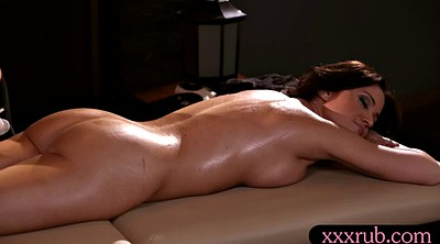 Lesbian massage, Table, Sexy pussy