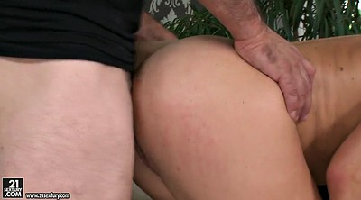 Russian anal, Big tits threesome