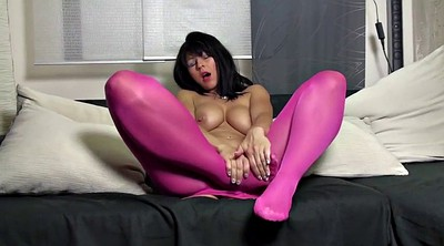 Pantyhose milf, Red