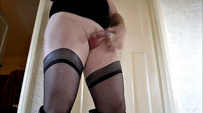 Boots, Big ass solo, Stockings solo, Stockings masturbation, Solo stockings
