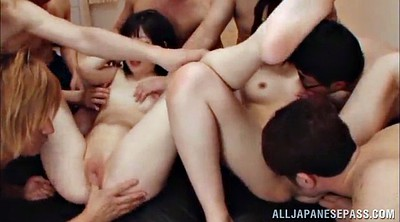 Foursome, Asian orgasm
