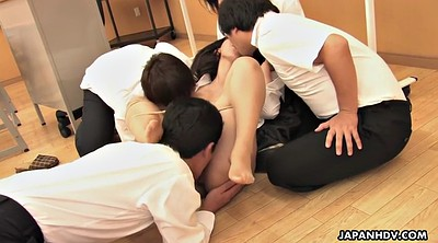 Japanese pantyhose, Hairy, Japanese teacher, Students, Japanese student