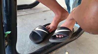 Milf feet, Candid, Black feet