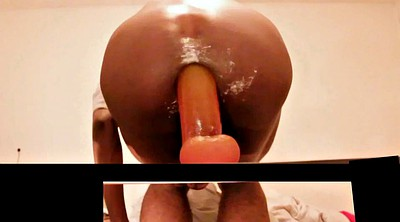 Gay sex, Ebony milf, Monkey, Ass gaping