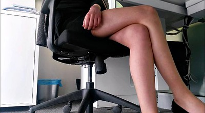 Upskirt, Secretary, Under table, Legs