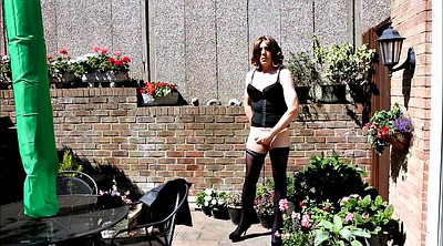 Crossdresser, Wank, Outdoor masturbation