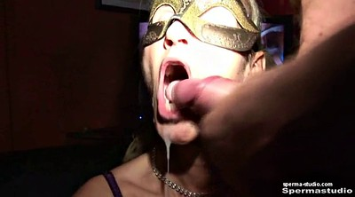 Bukkake, German, Cum in mouth, Milf creampie, Mouth cum
