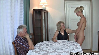 Teen couple, Old young couple, Mature threesome