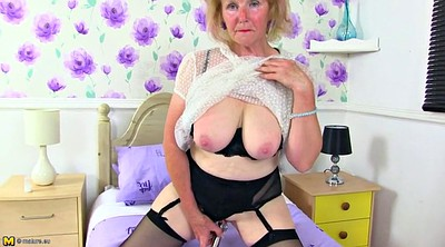 Big clit, Clit piercing, Busty granny
