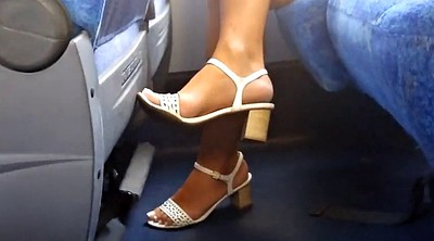 Brazilian, On bus, Milf feet, Candid feet