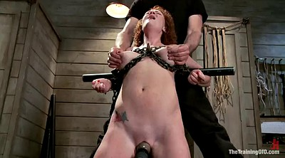 Torture, Anal deep, Redhead anal, Tit torture