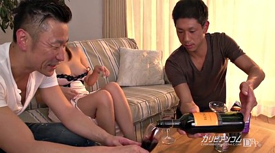 Hitomi, Bottle, Champagne, Asian threesome