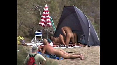 Public, Nudist beach, Horny couple