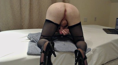 Heels, Stock, Stockings masturbating