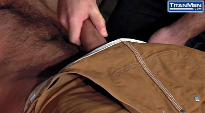 Hairy hd, Gay blowjob