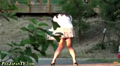 Japanese public, Sexy, Japanese outdoor, Skirt, Japanese pee